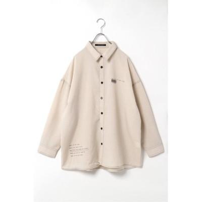 【ヴァンスエクスチェンジ】 リネンライクBIGシャツ メンズ オフホワイト M VENCE EXCHANGE