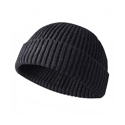 JFAN メンズ ビーニー帽 冬用 ニット 普段着用 ロールアップ式 フィッシャーマン ビーニー帽 US サイズ: On