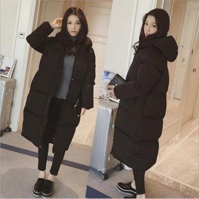 中綿コート中綿ジャケットロング丈コートアウター無地冬物長袖きれいめ暖かく防寒