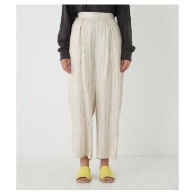 パンツ waist gather stripe pants<ウエストギャザーストライプパンツ>
