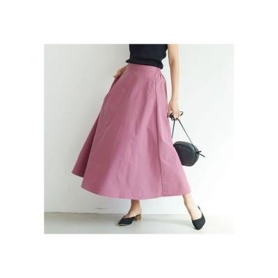 コカ coca ハリ感シンプルAラインスカート(Pink)