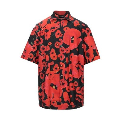LES HOMMES 柄入りシャツ  メンズファッション  トップス  シャツ、カジュアルシャツ  長袖 レッド