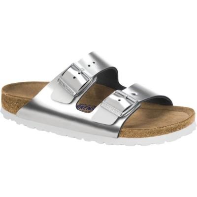ビルケンシュトック Birkenstock レディース サンダル・ミュール シューズ・靴 Arizona Soft Footbed Metallic Sandals Metallic Silver