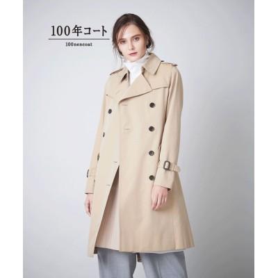 (SANYO COAT/サンヨーコート)<100年コート>ダブルトレンチコート/レディース ベージュ
