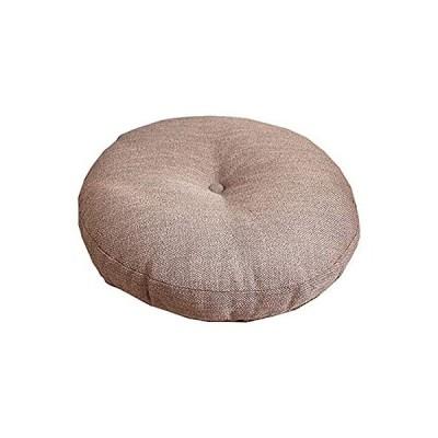 [RADISSY] 座布団 クッション 厚め 丸型 ラウンド 椅子 チェア ソファー お尻 保護 (ブラウン, 40×40cm)