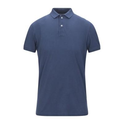 グラン サッソ GRAN SASSO ポロシャツ ダークブルー 48 コットン 100% ポロシャツ