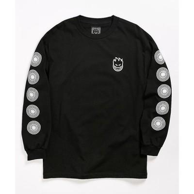 スピットファイア SPITFIRE メンズ 長袖Tシャツ トップス classic swirl black long sleeve t-shirt Black