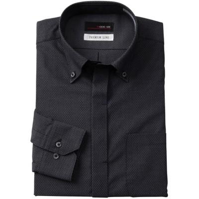 形態安定1.5釦長袖ワイシャツ(ショート衿ボタンダウン)(標準シルエット) (ワイシャツ)Shirts, テレワーク, 在宅, リモート