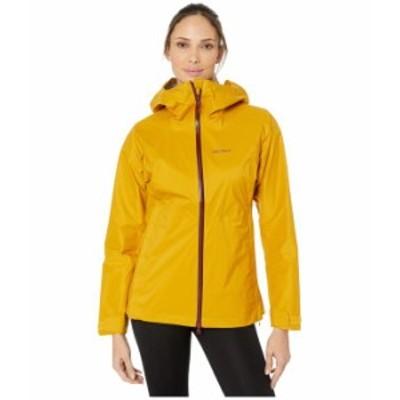 マーモット レディース コート アウター PreCip Stretch Jacket Yellow Gold