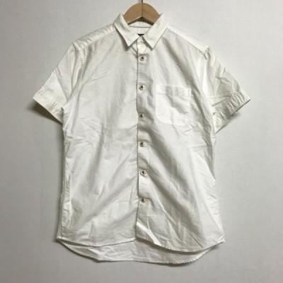 ビームス 半袖 カジュアルシャツ 0107100136483 白 / ホワイト BEAMS 無地 製品タグの印字消えていて読めない。