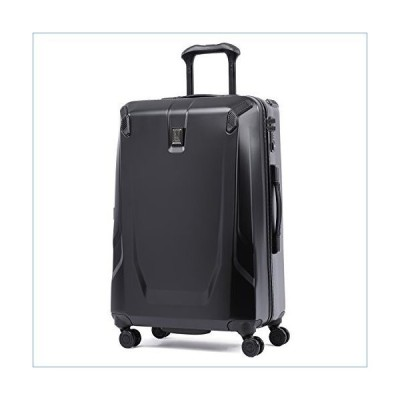 Travelpro Crew 11-Hardside Luggage with Spinner Wheels, Obsidian Black, Checked-Medium 25-Inch並行輸入品