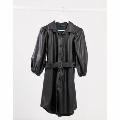 アイソウイットファースト I Saw It First レディース ワンピース シャツワンピース ワンピース・ドレス Belted Puff Sleeve Shirt Dress