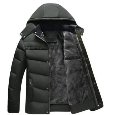 3色 メンズ 中綿ジャケット 中綿コート モッズコート 冬物   モッズコート     防寒  厚手  お兄系  フード取り外せ可能  フェイクファー
