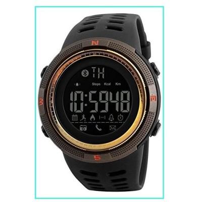 【新品】Mens Digital Bluetooth Smart Watch Fashion Waterproof Chronograph Black Gold Sport Watches(並行輸入品)