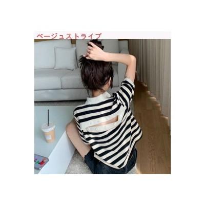 【送料無料】デザイン 感 バック中空 半袖Tシャツ レディース 夏 ルース 韓国風 スト   346770_A63460-6294185