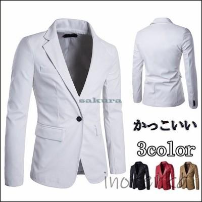 革ブレザー メンズ レザー テーラードジャケット 革ジャン 皮コート レザージャケット ビジネス アウター 紳士服 かっこいい おしゃれ