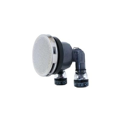 カクダイ 一口循環金具10A ワンロック式 ペア耐熱管用 S・L兼用 取付穴径50mm・厚さ15mm以下の浴槽用 フック棒付 PPS製 415-207