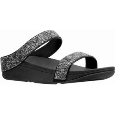 FitFlop レディースサンダル FitFlop Fino Slide Sandal Black Quartz M