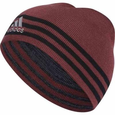 アディダス adidas メンズ ニット ビーニー 帽子 Eclipse Reversible II Beanie Legacy Red/Black/Onix Marl/Black/Clear Onix