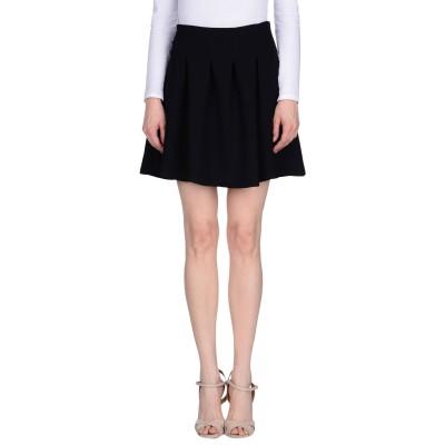 メルシー ..,MERCI ひざ丈スカート ブラック 44 ポリエステル 80% / レーヨン 20% ひざ丈スカート