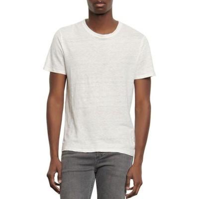 サンドロ メンズ Tシャツ トップス Clash Linen Tee