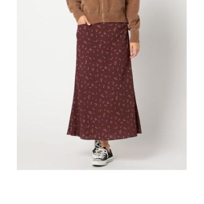 フラワープリントジョーゼットロングスカート