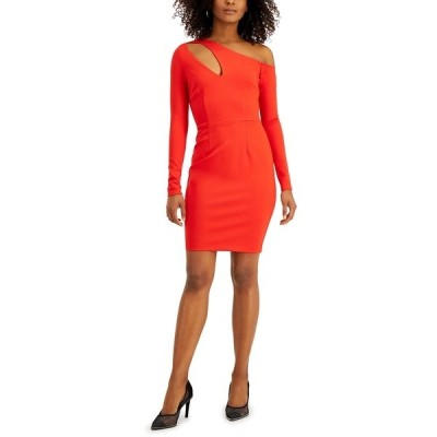 バースリー ワンピース トップス レディース Asymmetrical Neckline-Cutout Dress, Created for Macy's Red Ash