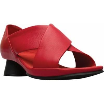 カンペール レディース サンダル シューズ Alright X Strap Sandal Medium Red Calfskin/Technical fabric
