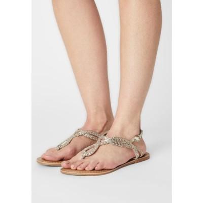 ドロシーパーキンス レディース サンダル JOEY PLAITED TOE POST - T-bar sandals - gold