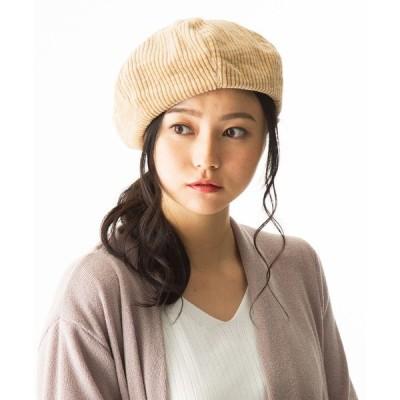 帽子 コーデュロイベレー帽