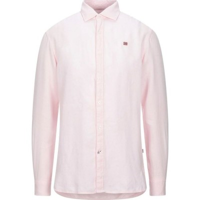 ナパピリ NAPAPIJRI メンズ シャツ トップス gervas 2 linen shirt Pink