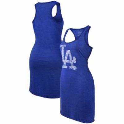 Majestic Threads マジェスティック スレッド スポーツ用品  Majestic Threads Los Angeles Dodgers Womens Royal Tri