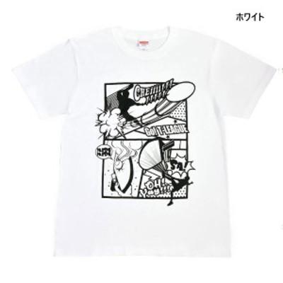 ティーリーグ メンズ レディース ジュニア アメコミ風全力シャウト!!!Tシャツ Tシャツ トップス 半袖Tシャツ 卓球 Tリーグ 応援グッズ 送