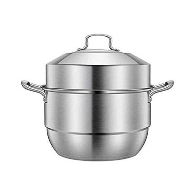 NBBB Multi Layer Steamer Pan Set with Lid Healthy Cooking Steamer Pot Induction Hob Gas General Stock Pot 1230 (Color : A, Size : 32CM)