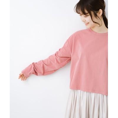 【ハコ】 ゆるシルエットがオシャレ見え&華奢見せを叶える 便利すぎるロングTシャツ レディース ピンク L haco!