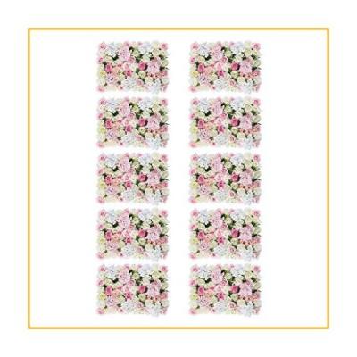 homozy 10 Pieces Artificial Flower Wall Panel Wedding Venue Shop Window Decor, Pink White【並行輸入品】