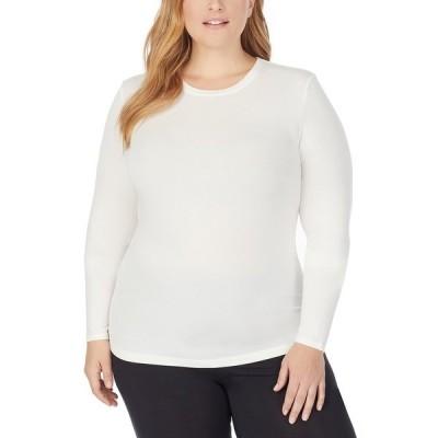 クドルドッズ カットソー トップス レディース Plus Size Softwear Long-Sleeve Crewneck Top Ivory