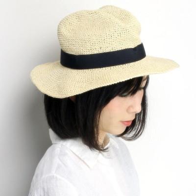 くしゅくたハット 春夏 ストローハット ペーパーブレード リラックス 帽子 レディース ナチュラル