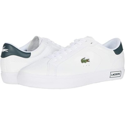 ラコステ Powercourt 0520 1 メンズ スニーカー 靴 シューズ White/Dark Grey Green