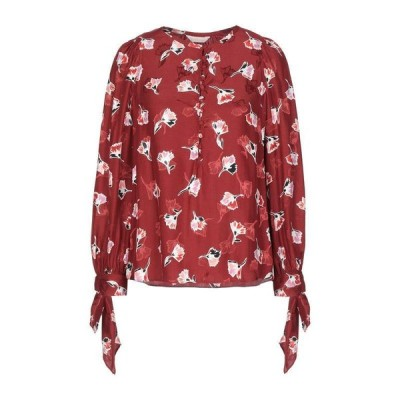 REBECCA TAYLOR ブラウス ファッション  レディースファッション  トップス  シャツ、ブラウス  長袖 ボルドー