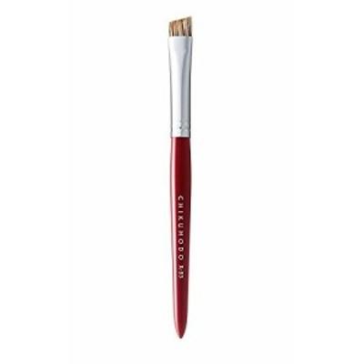 熊野筆(化粧筆) 竹宝堂 レギュラーシリーズ アイブローブラシ ウォーターバジャー rr-b5 赤ライン メイクブラシ