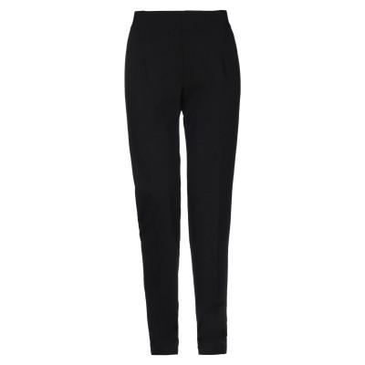 ANNA SERAVALLI パンツ ブラック 46 レーヨン 68% / ナイロン 27% / ポリウレタン 5% パンツ