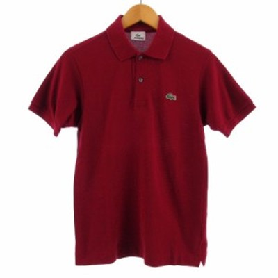 【中古】ラコステ LACOSTE ポロシャツ 半袖 鹿の子 レッド系 赤系 1 メンズ