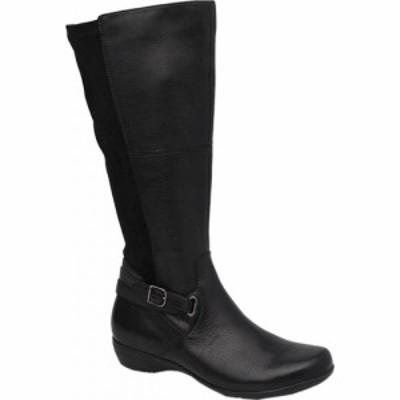 ダンスコ Dansko レディース ブーツ ロングブーツ シューズ・靴 Francesca Knee High Boot Black Milled Nappa Leather