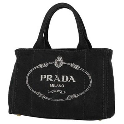 プラダ PRADA カナパ トート ハンドバッグ ショルダーバッグ キャンバス ネロブラック) 1BG439 レディース 【中古】