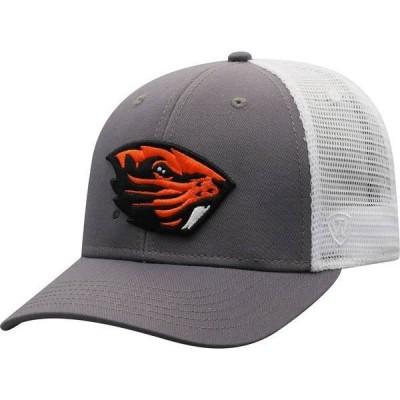 トップオブザワールド メンズ 帽子 アクセサリー Top of the World Men's Oregon State Beavers Grey/White BB Two-Tone Adjustable Hat