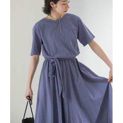 KBF/ケービーエフ 【WEB限定】バックオープンカットワンピース BLUE GRAY one