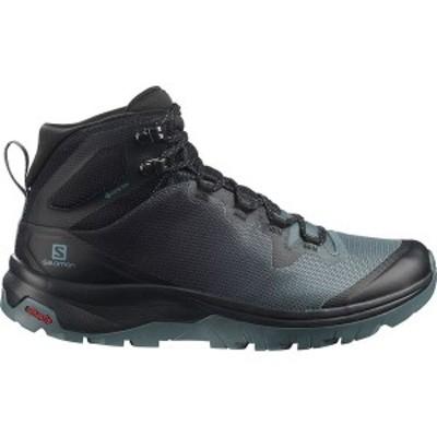 サロモン レディース ブーツ・レインブーツ シューズ Vaya Mid GTX Hiking Boot Stormy Weather/Black/Trooper