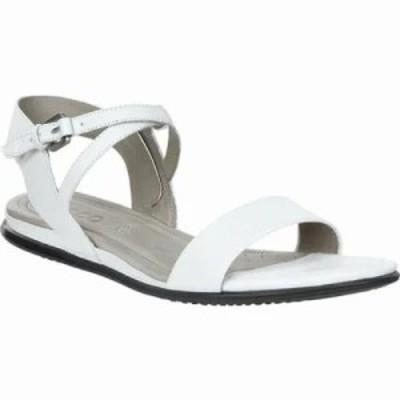 エコー サンダル・ミュール Touch Ankle Strap Sandal White Cow Leather/Nubuck