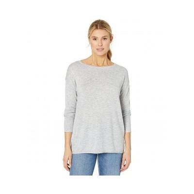 NYDJ エヌワイディージェー レディース 女性用 ファッション セーター Button Back Boat Neck Sweater - Heather Grey